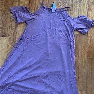 Mauve Flowy Dress Garage